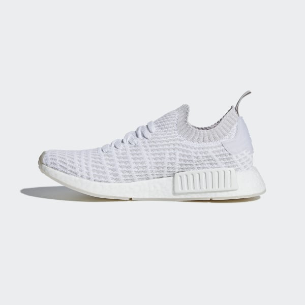 bf29670ce6947 NMD R1 STLT Primeknit Shoes Ftwr White   Grey One   Solar Pink CQ2390