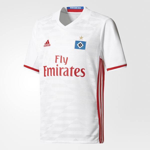 1c9b5d618f81c Camiseta primera equipación Hamburgo SV White   Scarlet AH5286