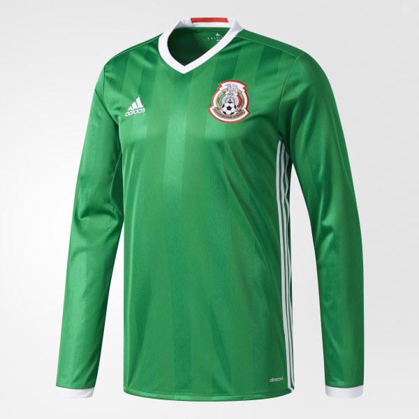 Jersey de manga larga local Selección México 2016 GREEN RED WHITE AC2724 8ea22d339b4e6
