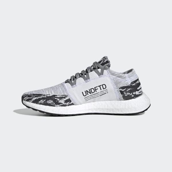 17407f4dea59a adidas x UNDEFEATED Pureboost GO Shoes Grey   Core Black   Core Black BC0474