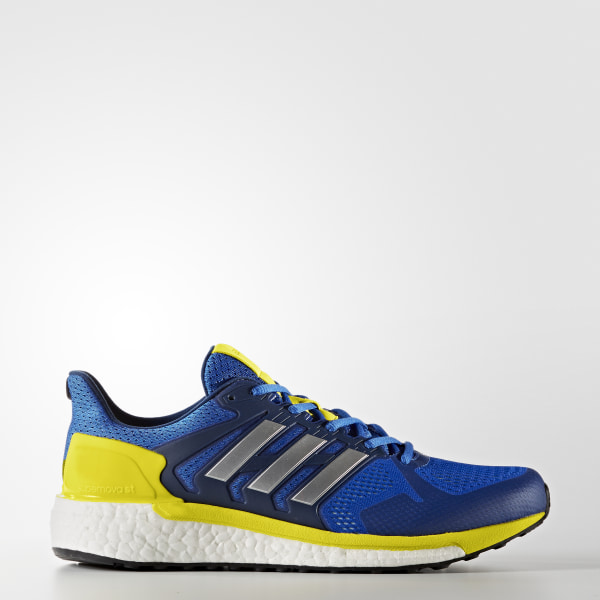 033960114bfcf5 Supernova ST Shoes Blue   Silver Metallic   Bright Yellow BB3103