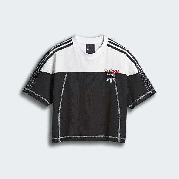 396547dc51cd adidas Originals by AW Disjoin Crop Top Black   Core White DW8700