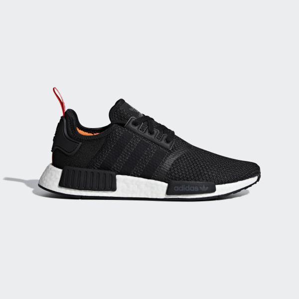 1e41278db7a4b NMD R1 Shoes Core Black   Core Black   Solar Orange B37621