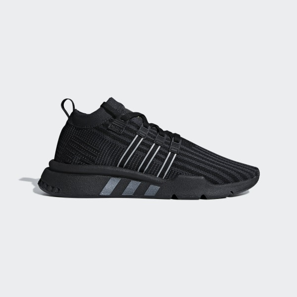 8b632fb23aa4ce EQT Support Mid ADV Primeknit Shoes Core Black   Carbon   Solar Yellow  B37456