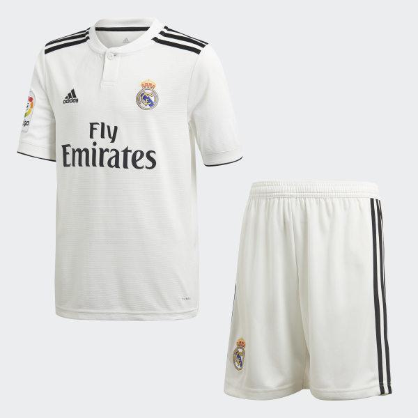 0fb6cfc60 Real Madrid Home Mini Kit Core White   Black CG0553