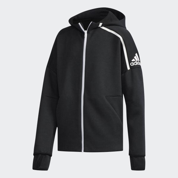 adidas Z.N.E. Fast Release Hoodie Zne Htr Black   White DJ1835 7fc28b5cab