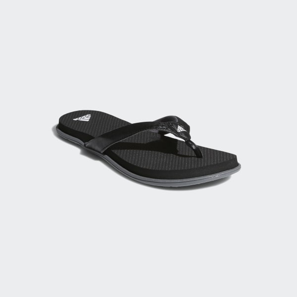 be7b4d623be384 Cloudfoam One Thong Sandals Core Black   Cloud White   Grey Four B41746