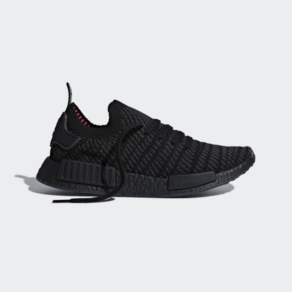 4e2e41211de1c NMD R1 STLT Primeknit Shoes Core Black   Utility Black   Solar Pink CQ2391