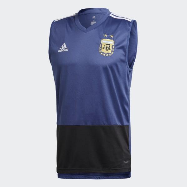 0629ba069ebe8 Camiseta de Entrenamiento Sin Mangas Selección de Argentina 2018 RAW PURPLE  S16 BLACK WHITE