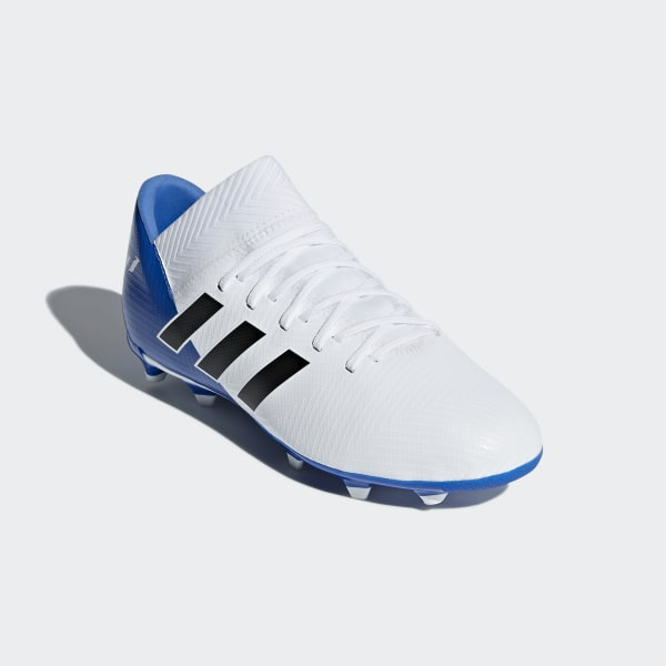 cheap for discount 7507d 081de Nemeziz Messi 18.3 Firm Ground Boots Ftwr White   Core Black   Football  Blue DB2364