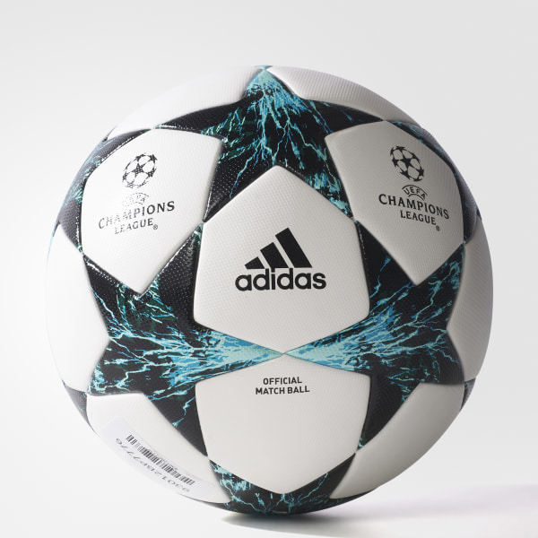Balón Finale 17 Official Match WHITE CORE BLACK DARK GREEN ENERGY BLUE S17 4b30a4bab1f13