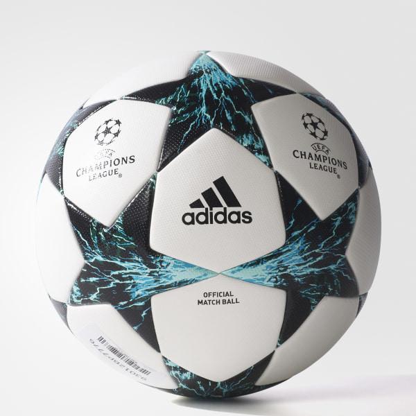 Pelota de fútbol finale oficial white core black dark green energy blue jpg  600x600 Oficial adidas cb7f3998611f7