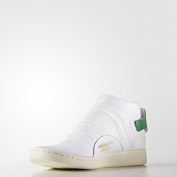 4d660a2fc68f6 Stan Smith Shock Primeknit Shoes Cloud White   Cloud White   Green BY9252