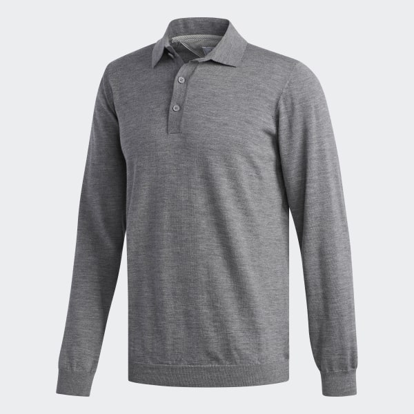 Adipure Refined Polo Sweater Tmag Grey Htr CY9474 bedaee411d874