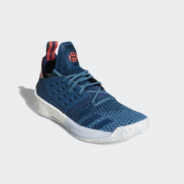 Harden Vol. 2 Shoes Blue Night Bright Cyan Shock Red AH2216 7ae7c4d1a