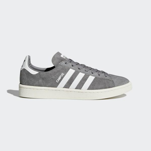 best sneakers 1b316 02775 Chaussure Campus Grey Three   Footwear White   Chalk White BZ0085