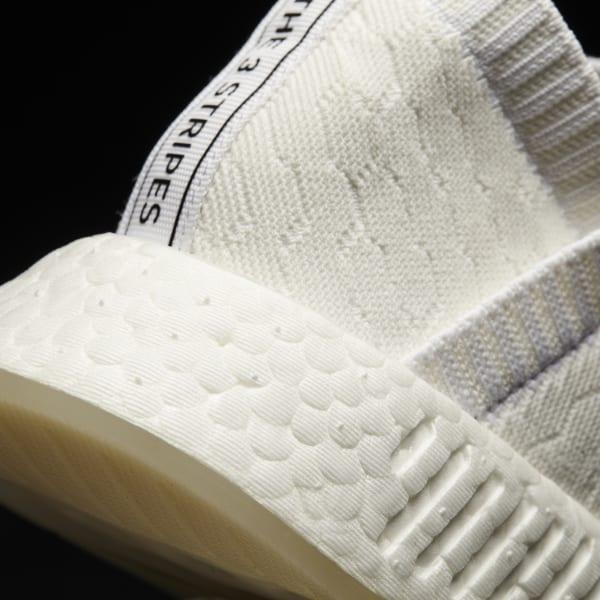 a42fca46f NMD CS2 Primeknit Shoes Core White   Core White   Cloud White BY3018