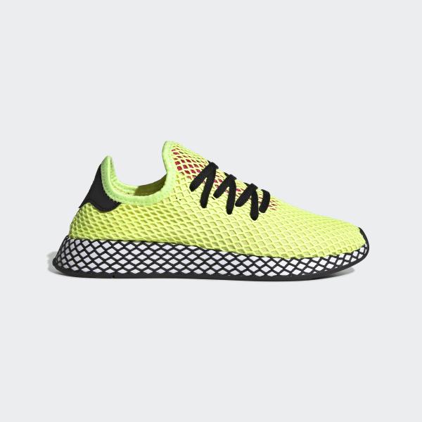 32db7566becb5 Deerupt Runner Shoes Hi-Res Yellow   Core Black   Shock Pink CG5943