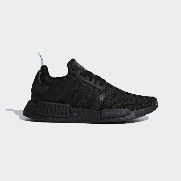 1a25bf46706 NMD R1 Shoes Core Black   Core Black   Clear Mint AQ1102