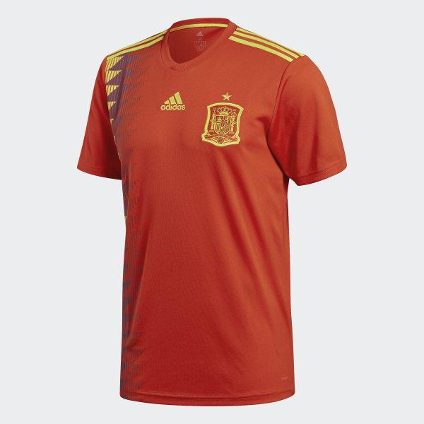 3f5786f0af95a Camiseta Oficial Selección de España Local 2018 RED BOLD GOLD CX5355