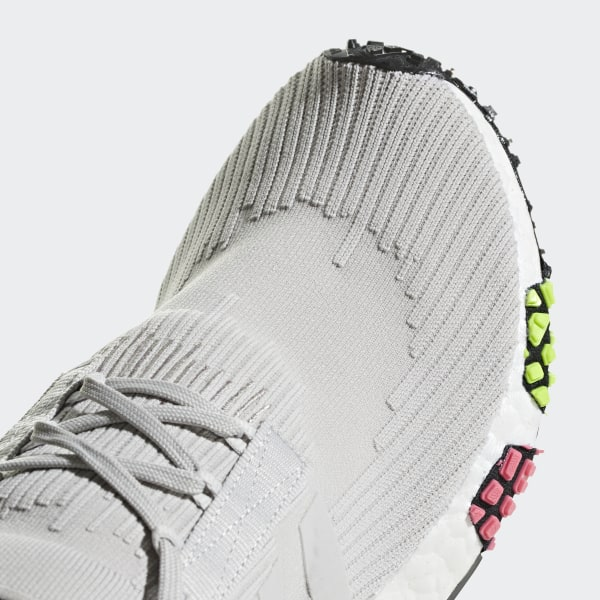 a4cb010b3 NMD Racer Primeknit Shoes Grey One   Grey One   Solar Pink CQ2443