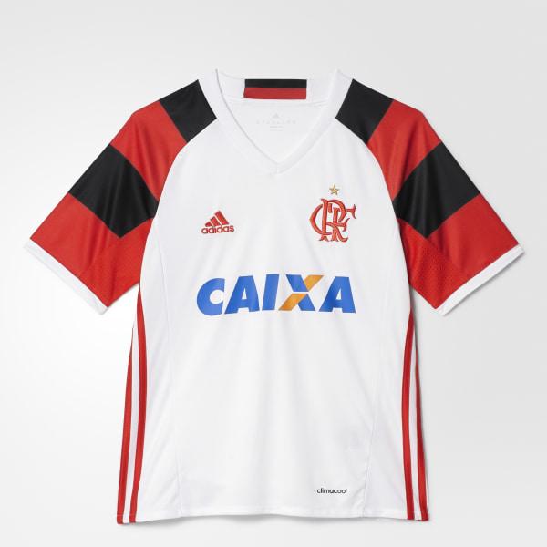 db5b9d63f3 Camisa Infantil CR Flamengo 2 - Branco adidas