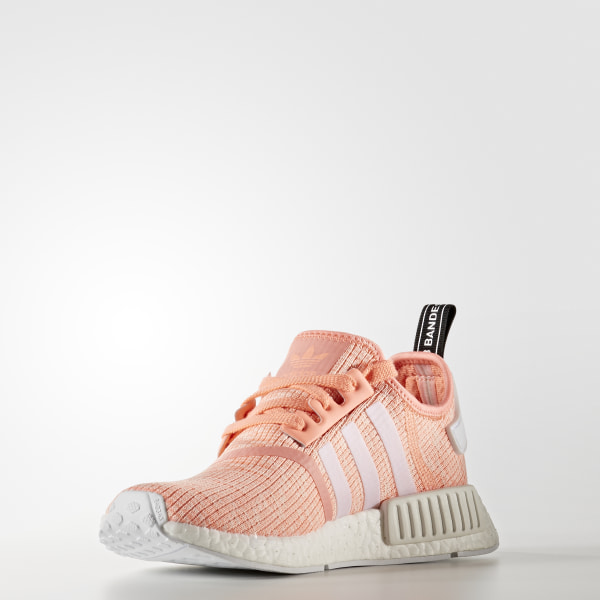 9f60ec42cd6 NMD R1 Shoes Sun Glow Footwear White Haze Coral BY3034