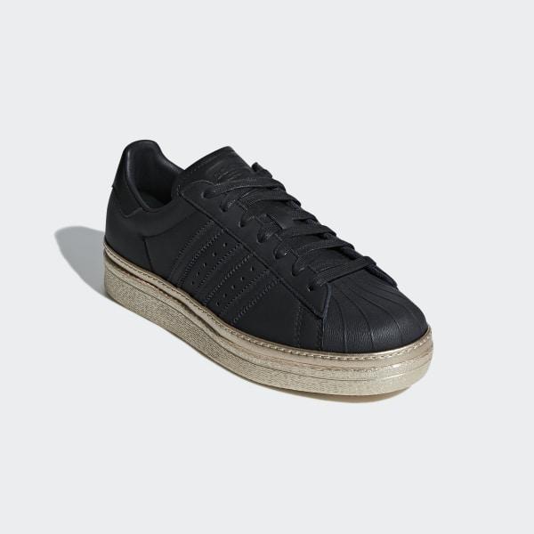 97b1e6dde4cb6f Superstar 80s New Bold Shoes Core Black   Core Black   Gold Metallic B28041