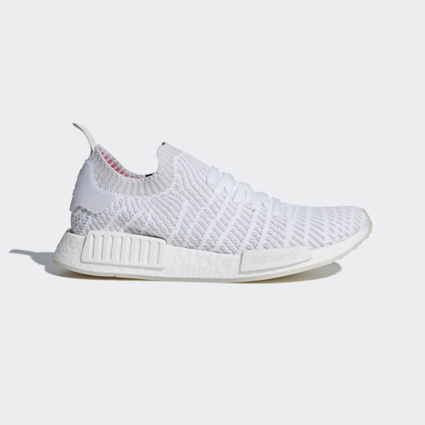 626fb6d90 NMD R1 STLT Primeknit Shoes Ftwr White   Grey One   Solar Pink CQ2390