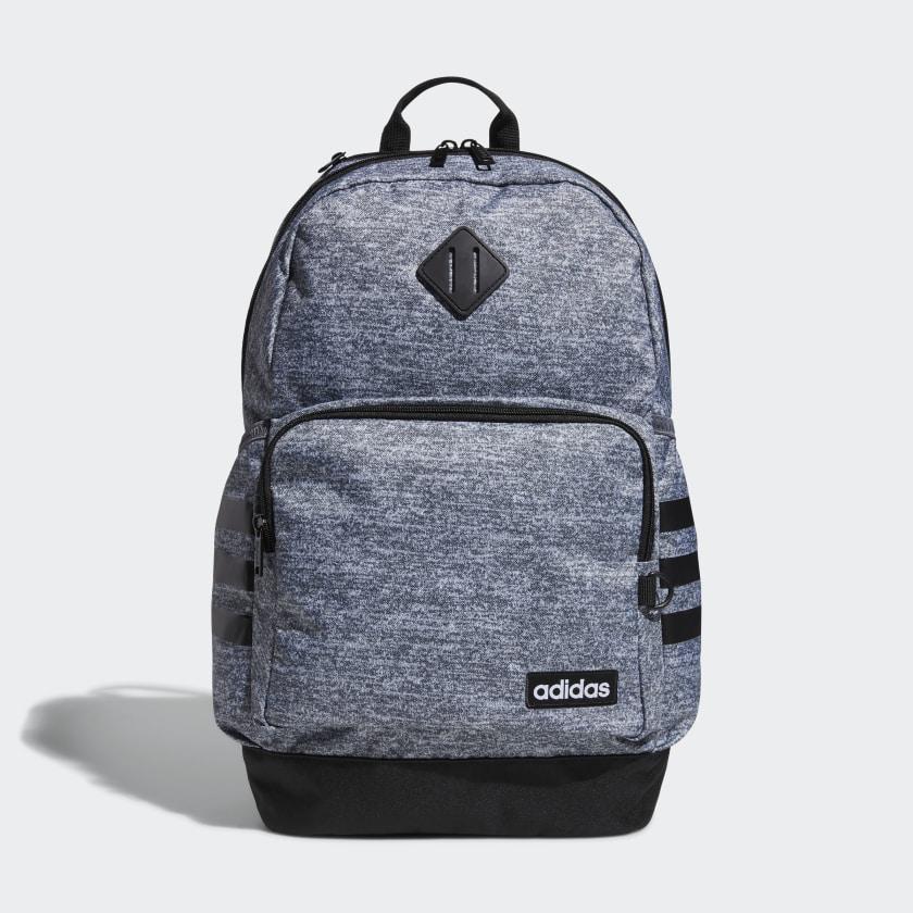 adidas Classic 3-Stripes Backpack - Grey | adidas US