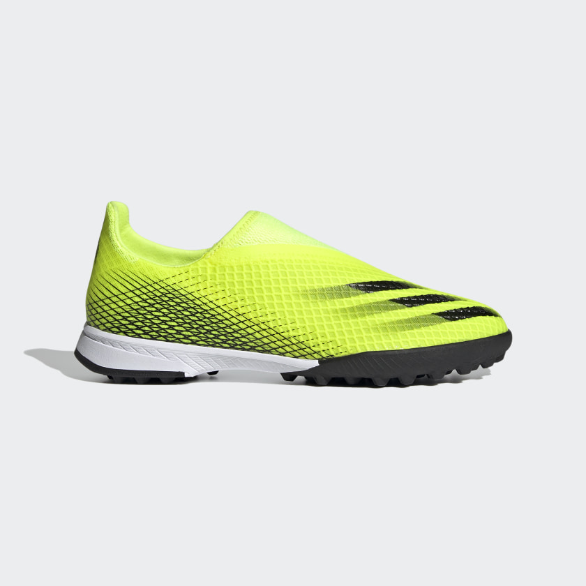 X GHOSTED.3 LACELESS TF FUSSBALLSCHUH Solar Yellow