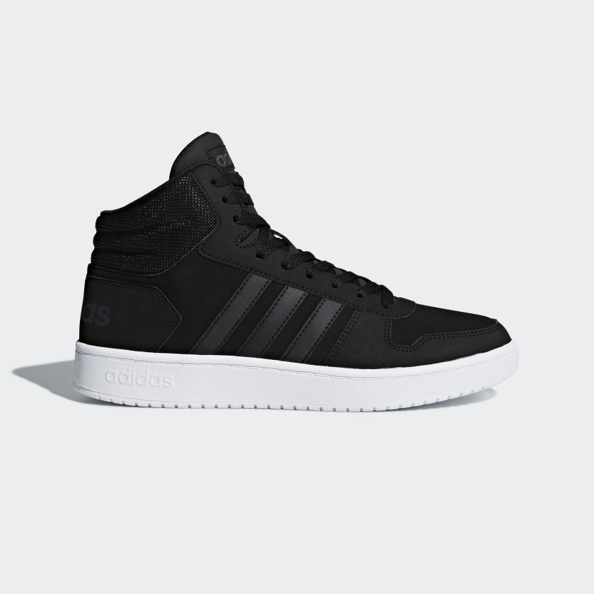 adidas Hoops 2.0 Mid Shoes - Black | adidas US
