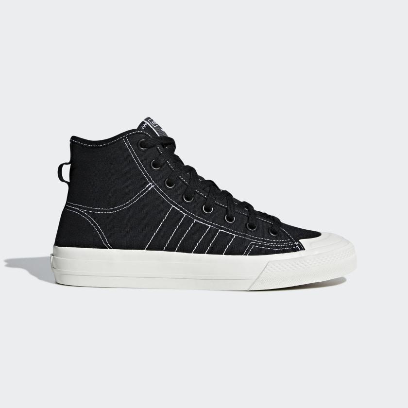 adidas Nizza RF Hi Shoes - Black | adidas US
