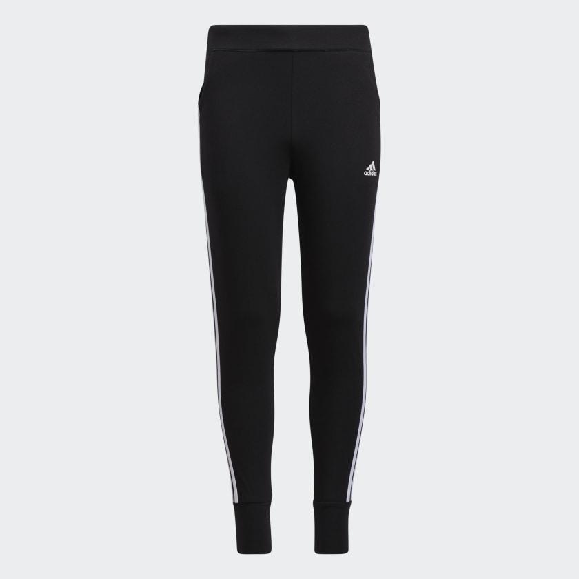 adidas 3-Stripes Cotton Joggers - Black | adidas US