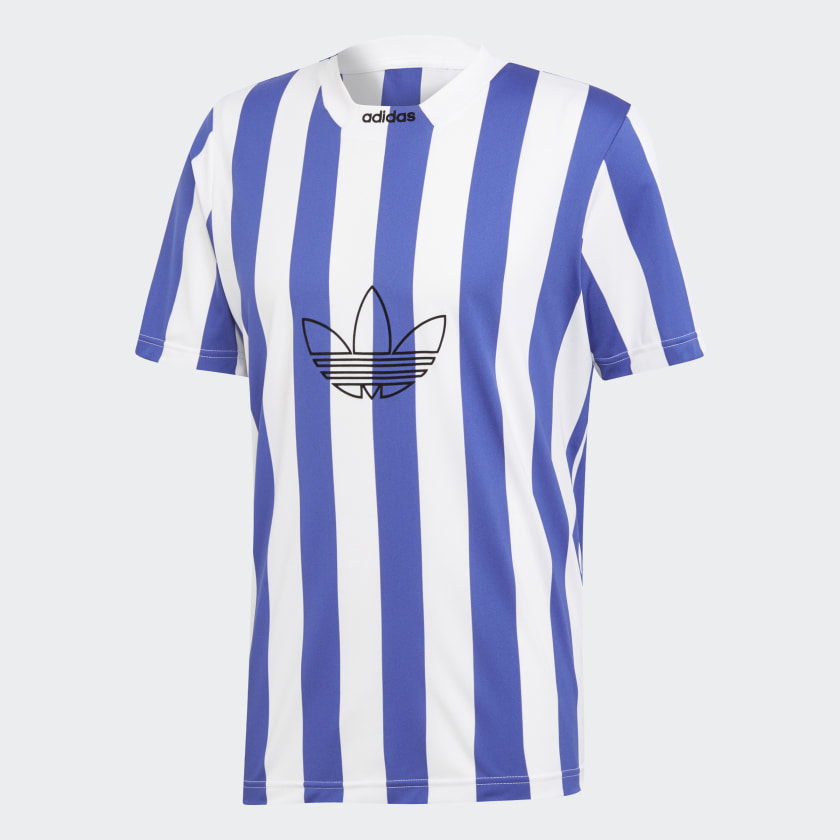 adidas Stripes Jersey - Blue   adidas Vietnam