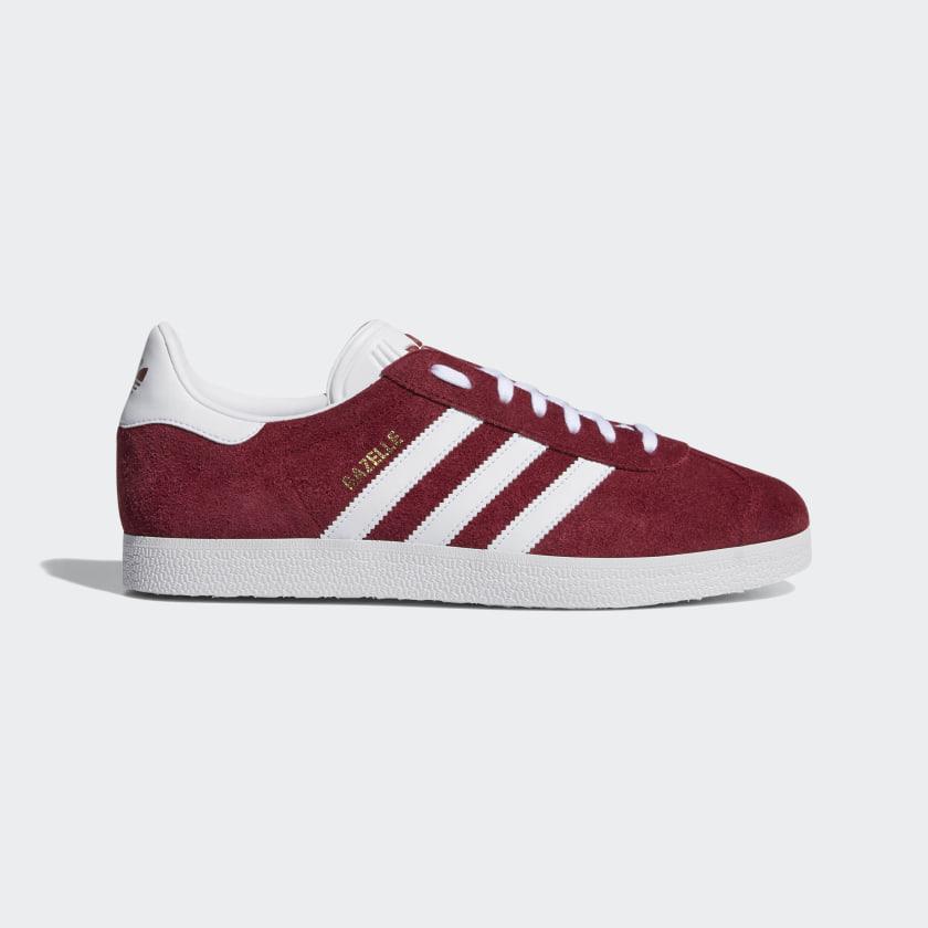 Burgundy & White Gazelle Shoes | adidas US