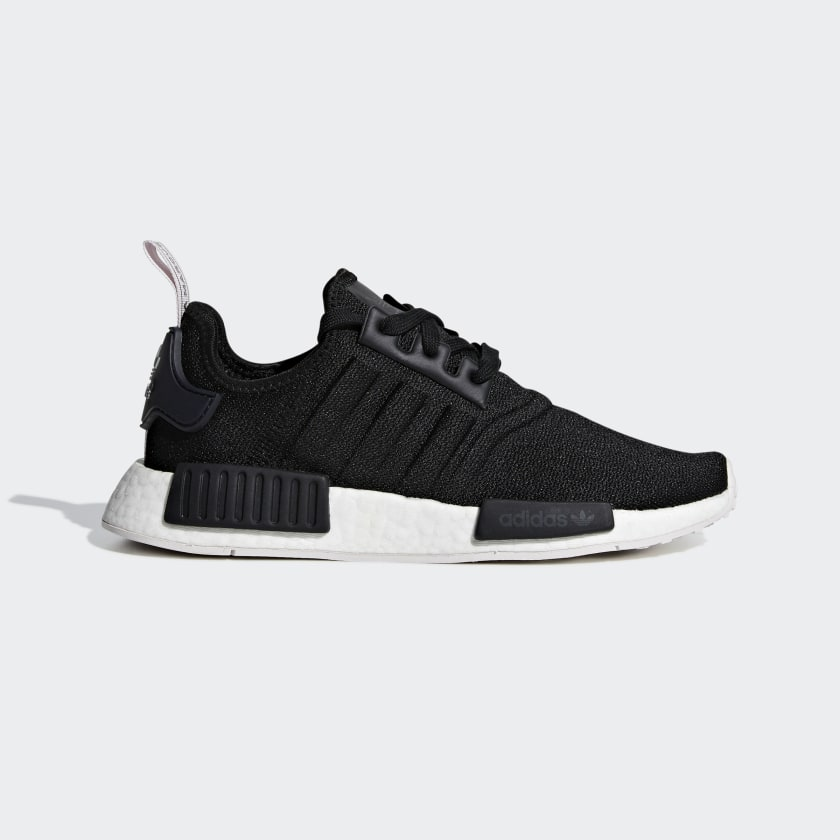 Women's NMD R1 Core Black and White Shoes   BD8026   adidas US