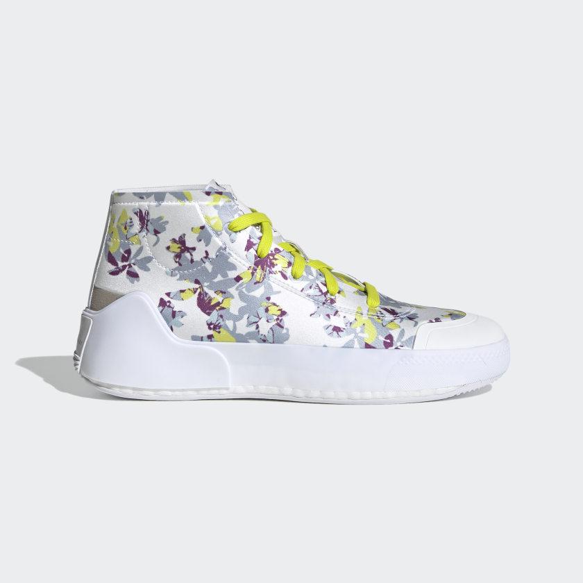 adidas by Stella McCartney Treino Mid-Cut Print Shoes - White   adidas US