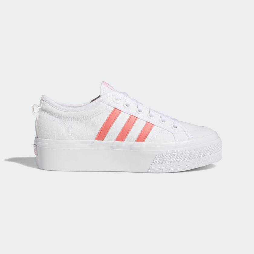 adidas Nizza Platform Shoes - White | adidas US