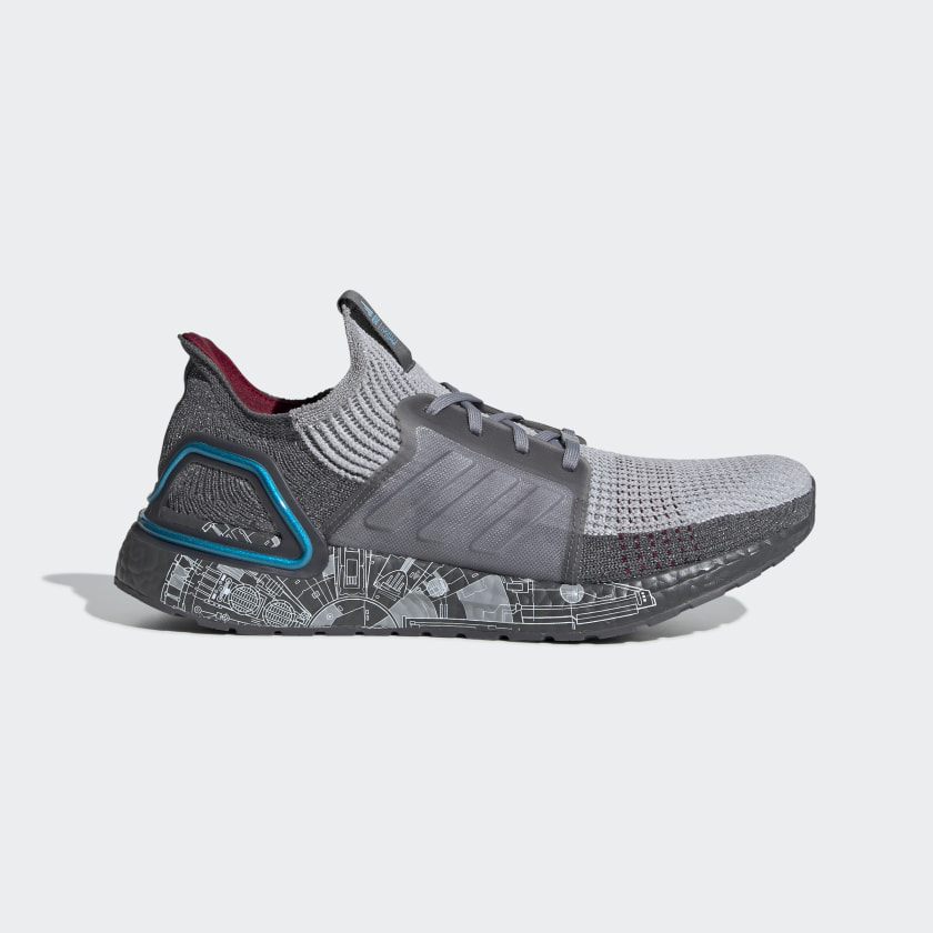 adidas Ultraboost 19 Star Wars Shoes - Grey   adidas US