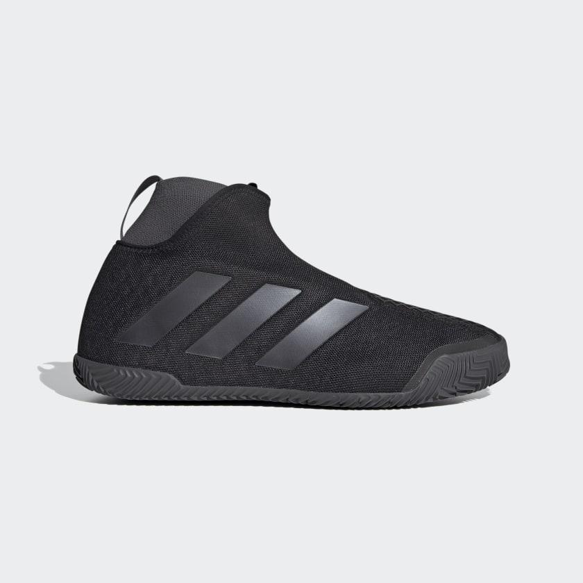 adidas Stycon Laceless Clay Court Shoes - Black | adidas US