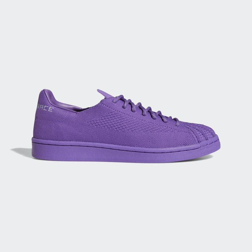 adidas Pharrell Williams Superstar Primeknit Shoes - Purple | adidas US