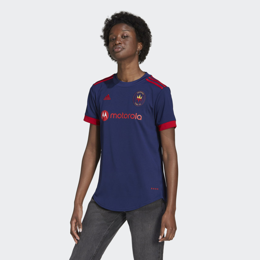 adidas Chicago Fire 21/22 Home Jersey - Blue   adidas US