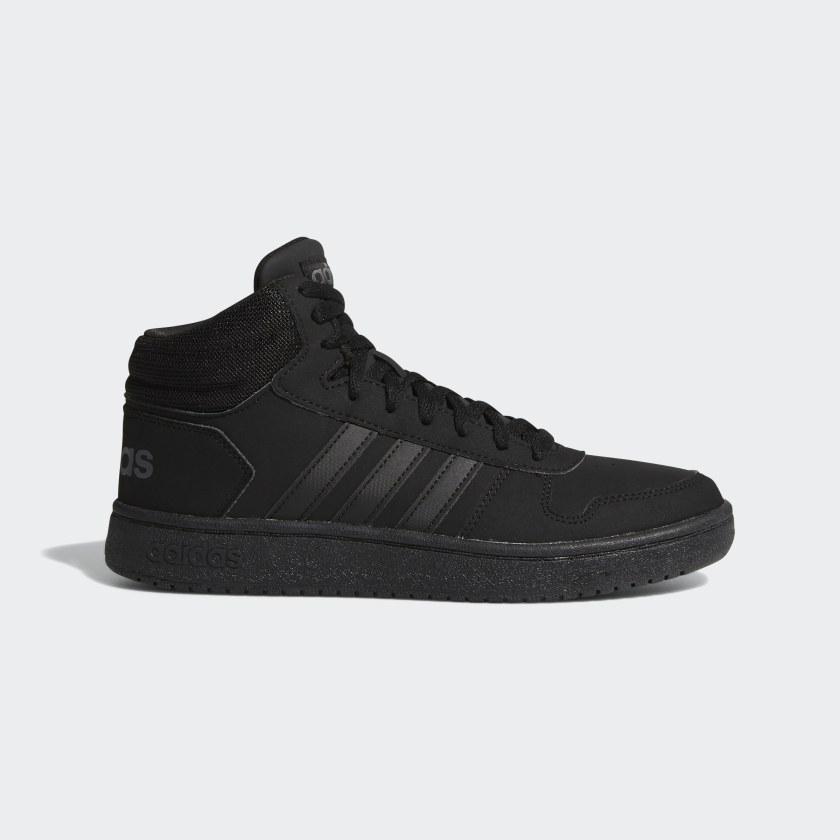 adidas Hoops 2.0 Mid Shoes - Black   adidas US