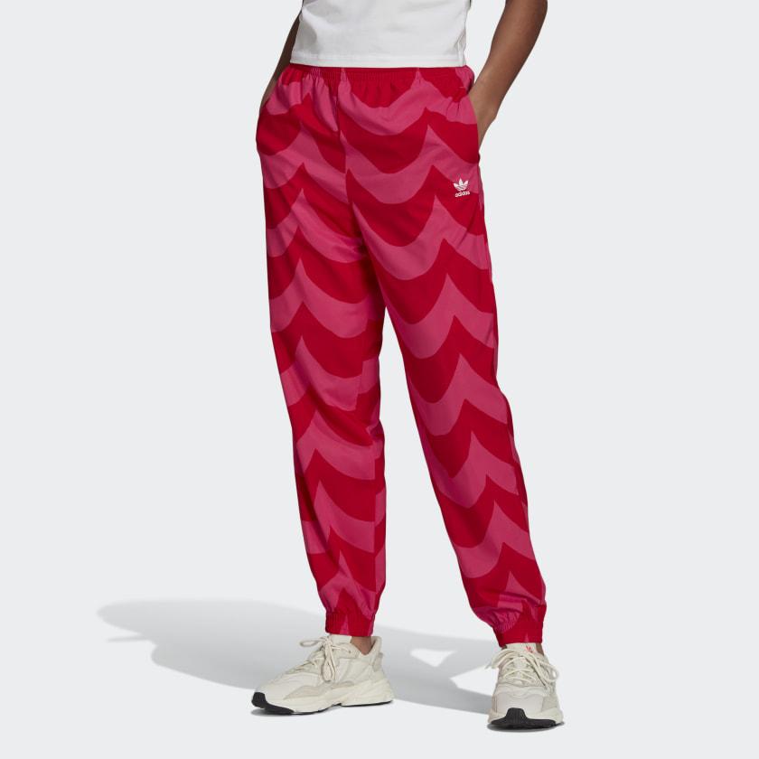adidas Marimekko Cuffed Woven Track Pants - Red   adidas US