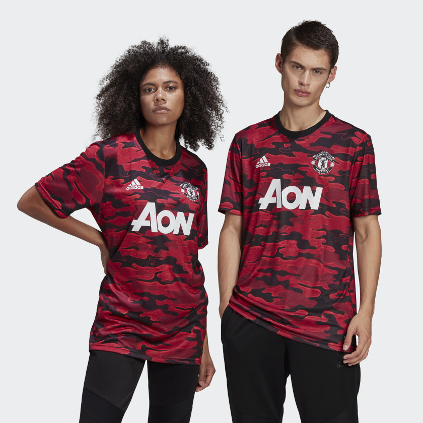 adidas Manchester United Pre-Match Jersey - Red | adidas Canada