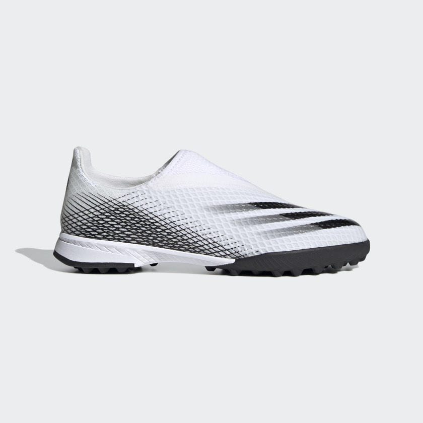 X GHOSTED.3 LACELESS TF FUSSBALLSCHUH Cloud White