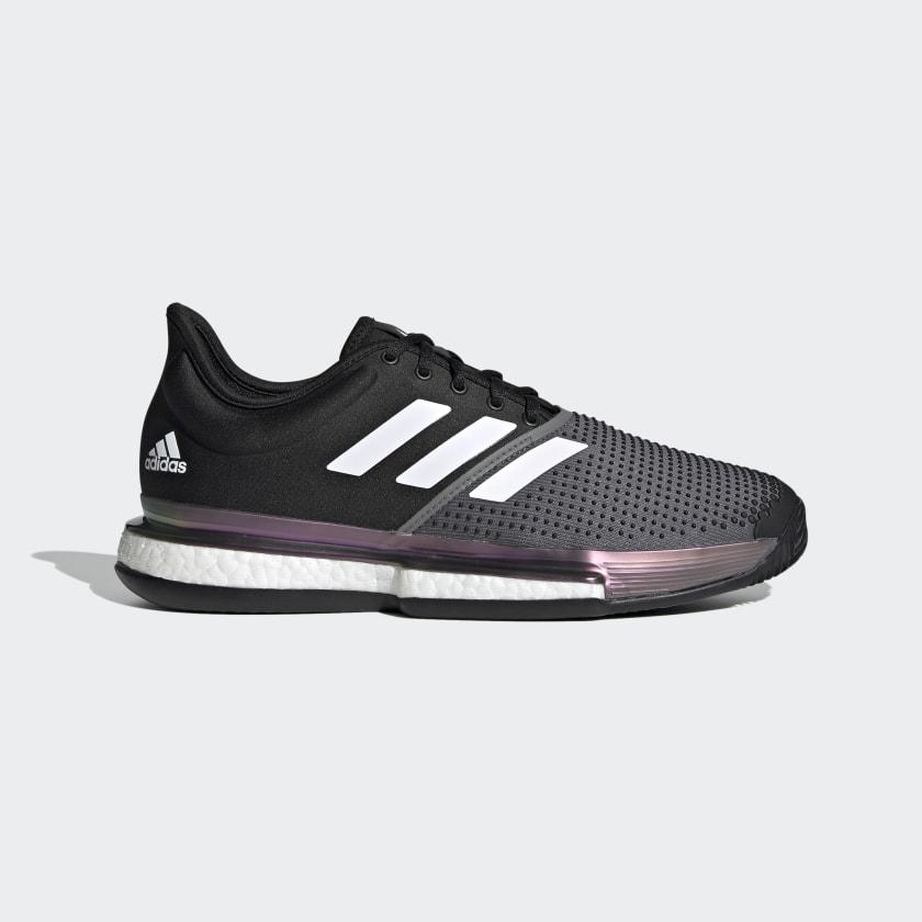 adidas SoleCourt Primeblue Clay Shoes - Black | adidas US