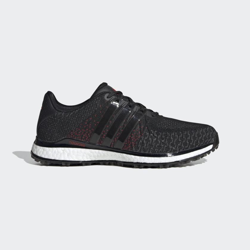 adidas TOUR360 XT-SL Spikeless Textile Golf Shoes - Black | adidas US