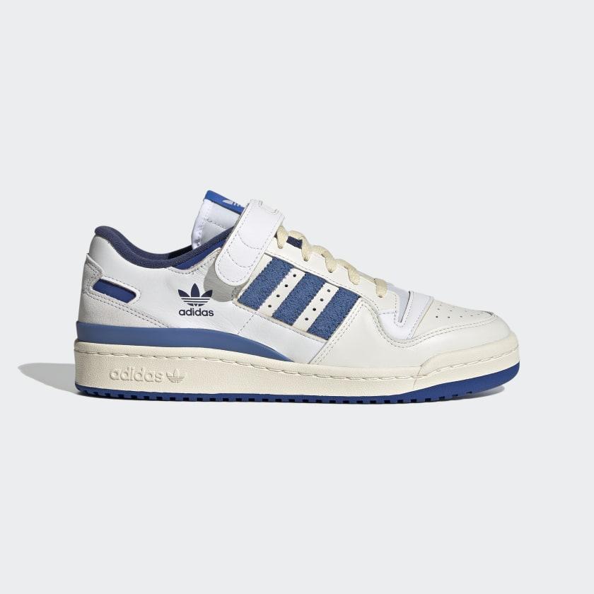 Chaussure Forum 84 Low Blue Thread - Blanc adidas | adidas France
